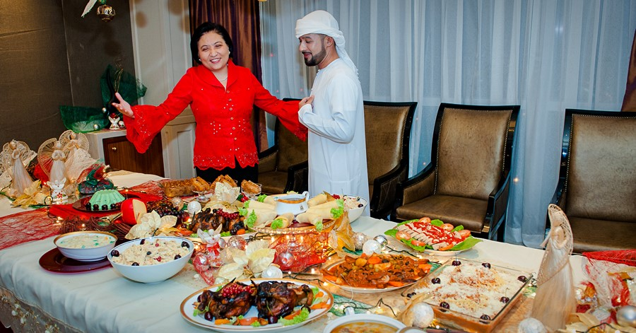 filipino dishes during noche buena phil embassy UAE