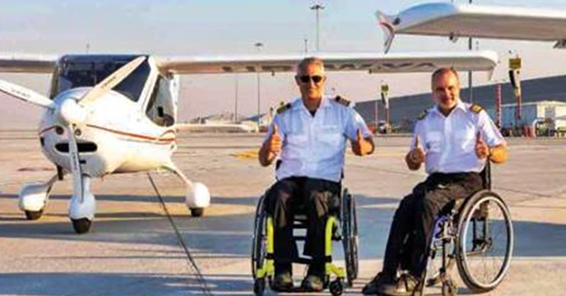 Dubai Airports, Execujet Welcome Pilots on Wheelchairs' Visit during World Tour
