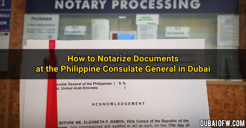 how to notarize documents pcg dubai - How To Get Dubai Police Clearance Certificate From Philippines