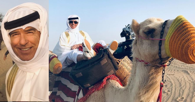 PHOTOS Pierce Brosnan Spotted in Dubai While Filming The Misfits