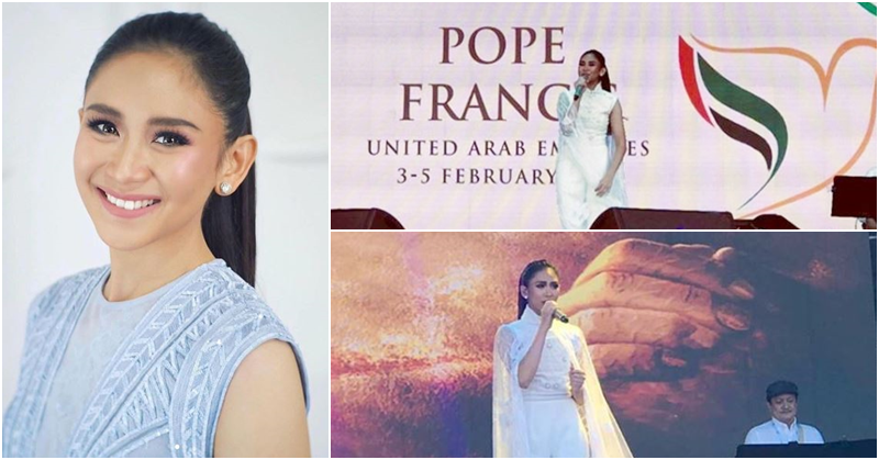 WATCH Sarah G. Performs After Pope's Holy Mass in UAE