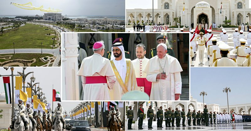 uae welcomes pope photos
