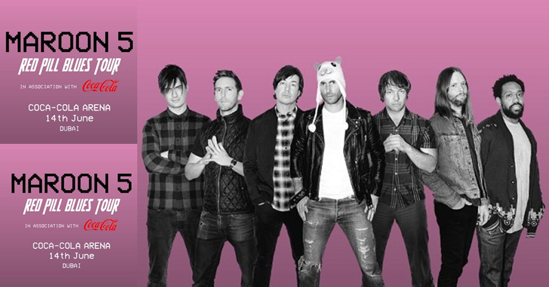 Catch Maroon 5 LIVE at Dubai's Coca-Cola Arena on June 14