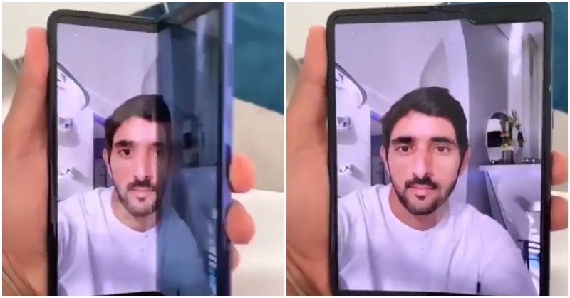 WATCH Sheikh Hamdan Shares Sneak Peek of Samsung's 'Bendable' Phone a