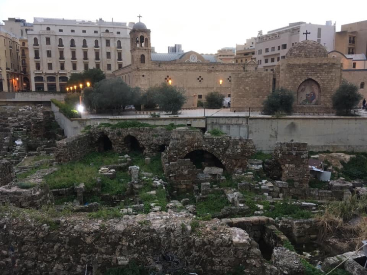 ruins behind Mohamad Al Amin Mosque beirut