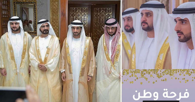 PHOTOS HH Sheikh Hamdan 2 Brothers Get Married 2