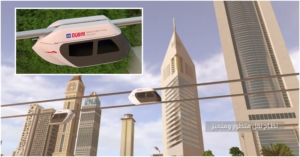 WATCH Futuristic Sky Pods Zoom Over Dubai Landmarks