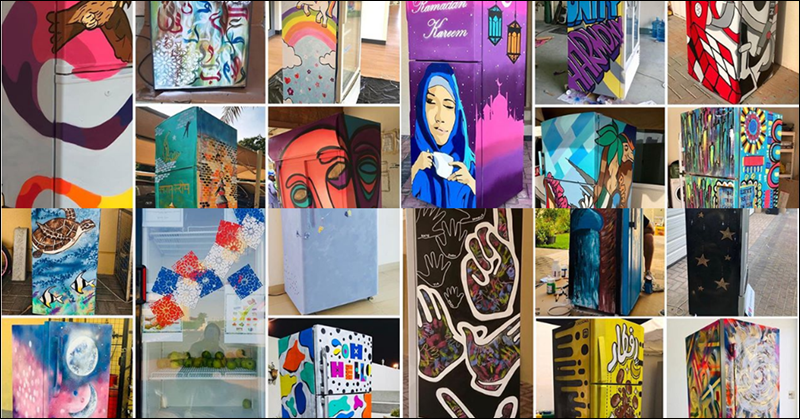 Filipino Artists Lead Creative Displays through Ramadan Sharing Fridges