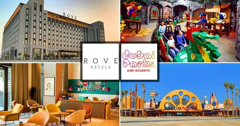 199 AED Staycation at Rove Hotel + 2 FREE Tickets to Dubai Parks & Resorts