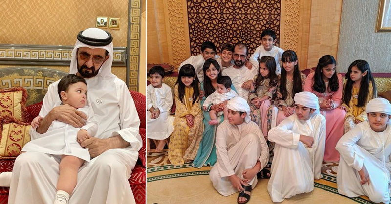 PHOTOS Ruler of Dubai Celebrates Eid Al Fitr with Family