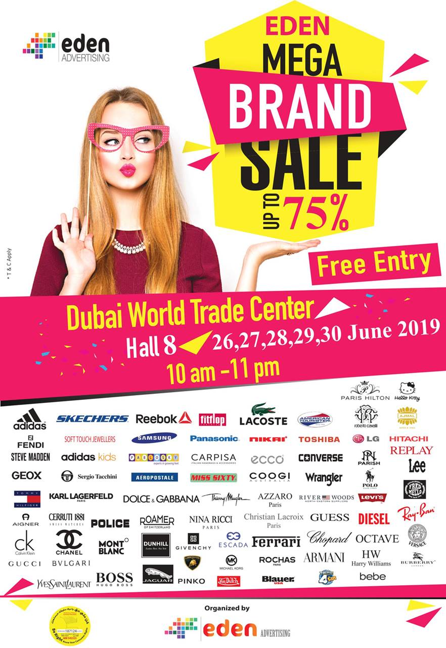 eden mega brand sale dubai world trade centre