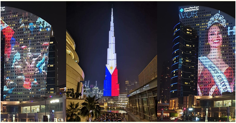 LOOK: Dubai's Iconic Spots Light up to Celebrate the Philippines 121st Independence Day
