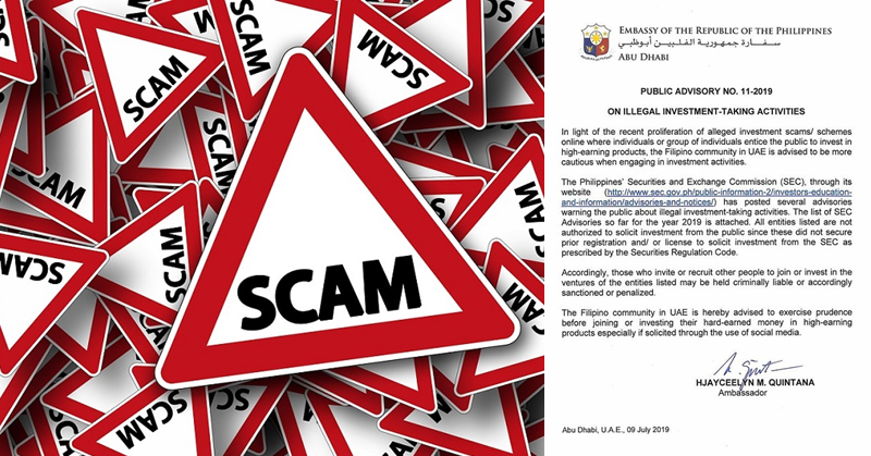 ADVISORY Filipinos Warned Against 33 Illegal Investment Activities