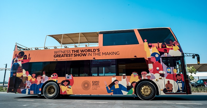 Catch FREE Bus Tours to Expo 2020 Site bet. July 20 - Aug 31