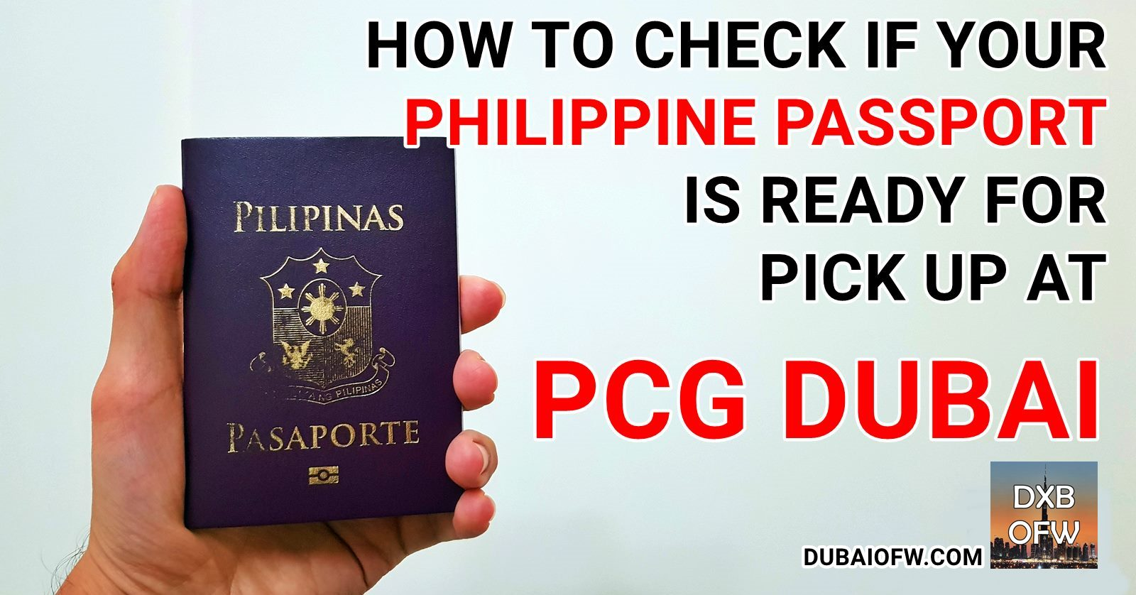 how to check if your philippine passport is released dubai