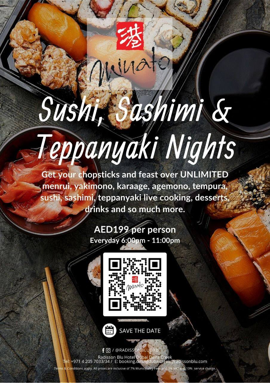 sushi nights at minato restaurant