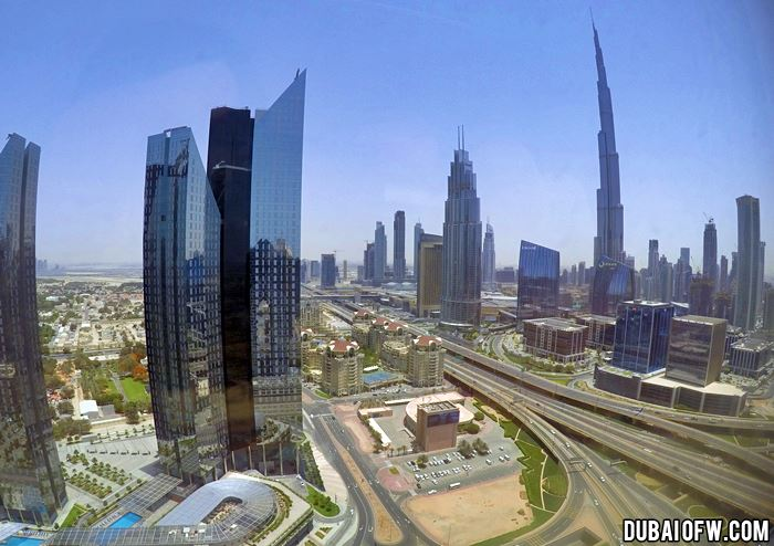 view of downtown dubai from dusit thani
