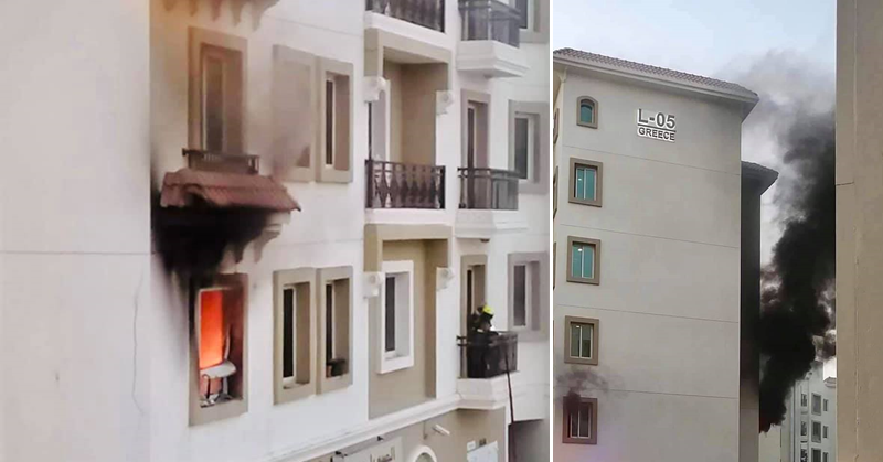 Fire Hits Apartment in Dubai International City, 5 Pinays Left Homeless