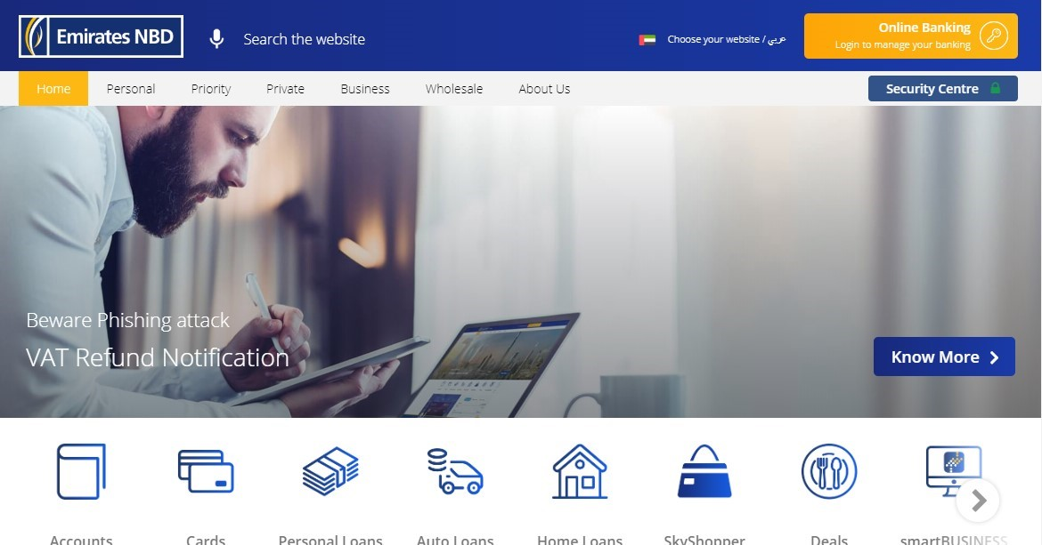 Emirates NBD website
