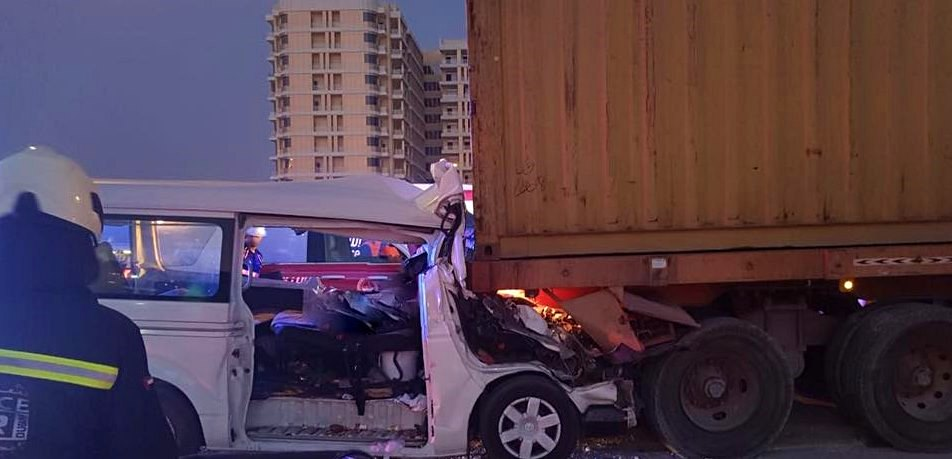 Mohamed Bin Zayed Road accident dubai