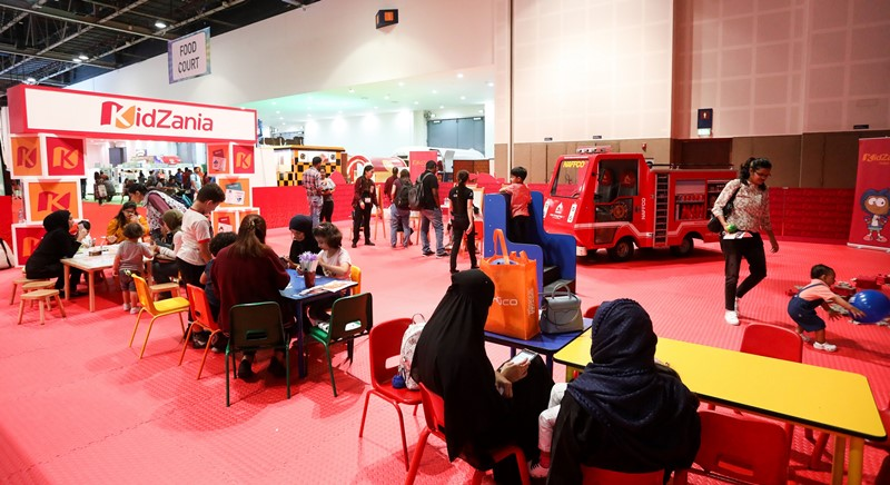 The dedicated KidZania zone at GITEX Shopper hosts a range of activities such as face painting, arts and crafts, and painting.