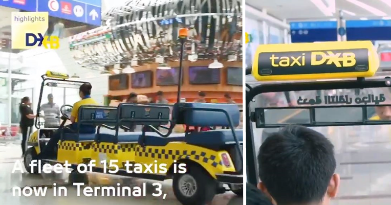 VIDEO Catch Free Taxi Service Within Dubai International Airport