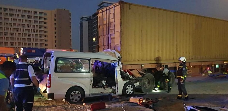 dubai road accident