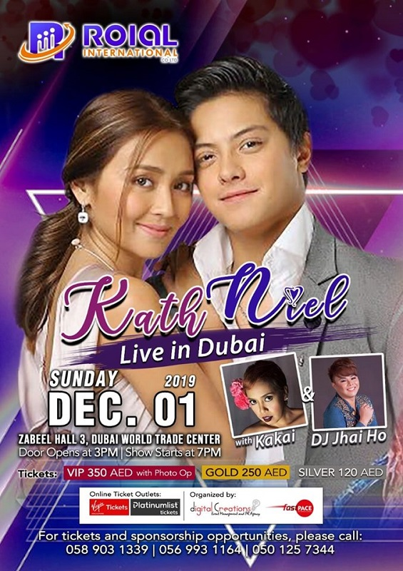 Fans can Watch 'Kathniel' Live in Dubai on December 1st