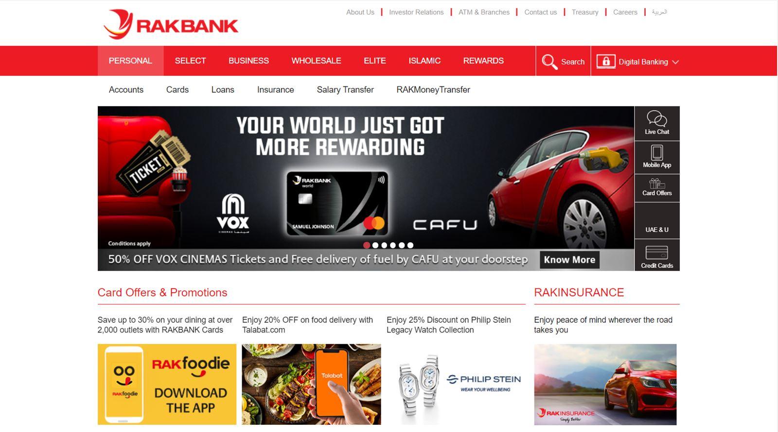 rakbank website