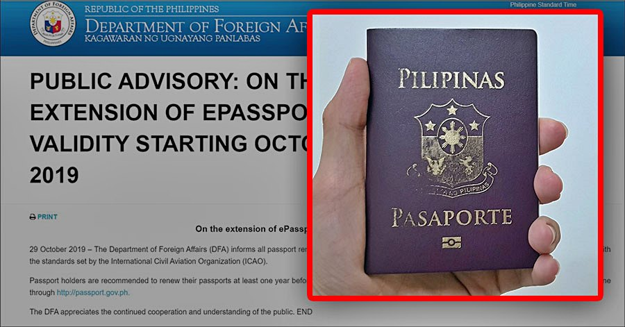 DFA Passport renewal advisory one year