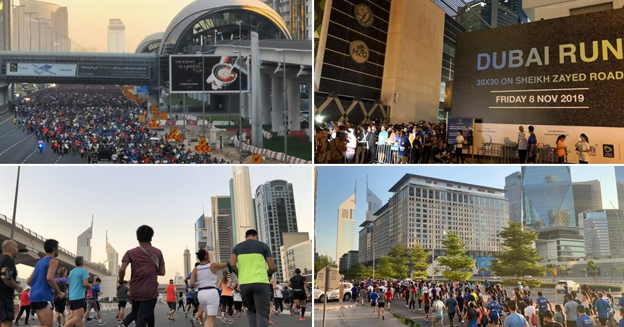 Dubai Run on Sheikh Zayed Road pictures