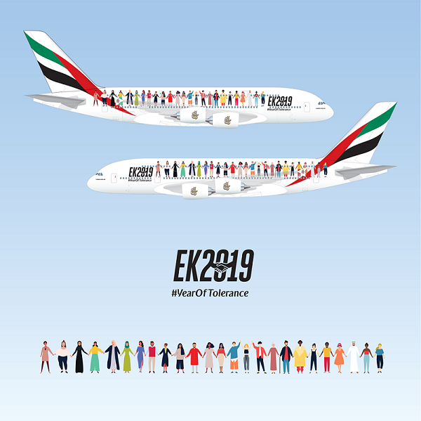 Emirates Launches 'Year of Tolerance' Airbus A380 to Mark UAE National Day