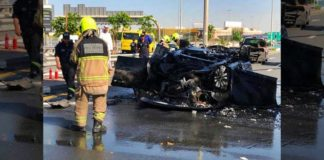 car fire accident dubai