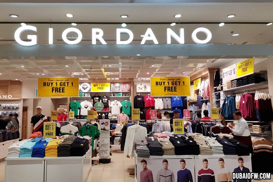 giordano buy one get one sale