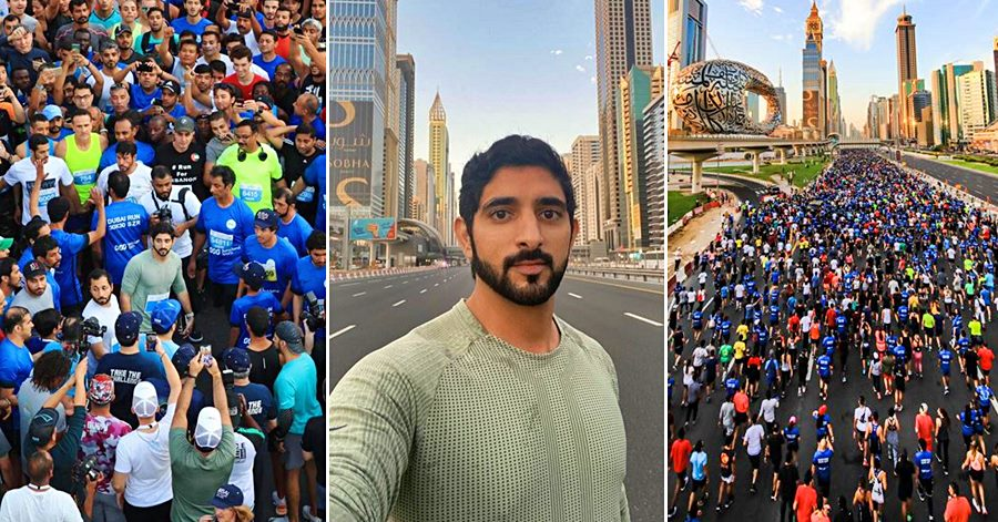 his highness sheikh hamdan fazza in dubai run