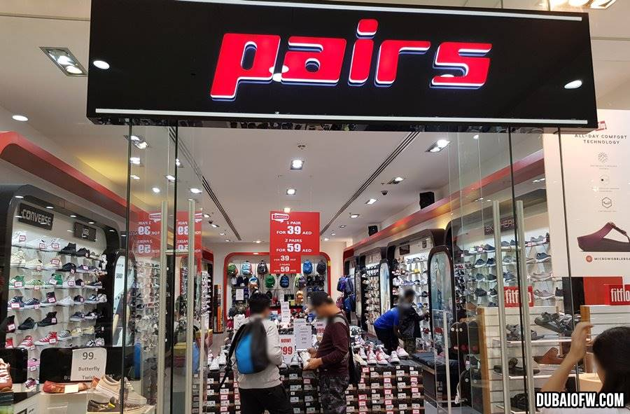 pairs shoe store sale