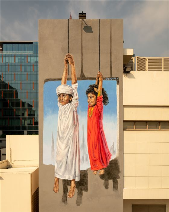PHOTOS Check Out These Colourful Murals of the 'Dubai Street Museum'