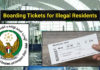 boarding tickets illegal residents