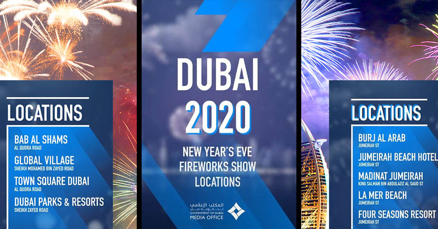 dubai fireworks places