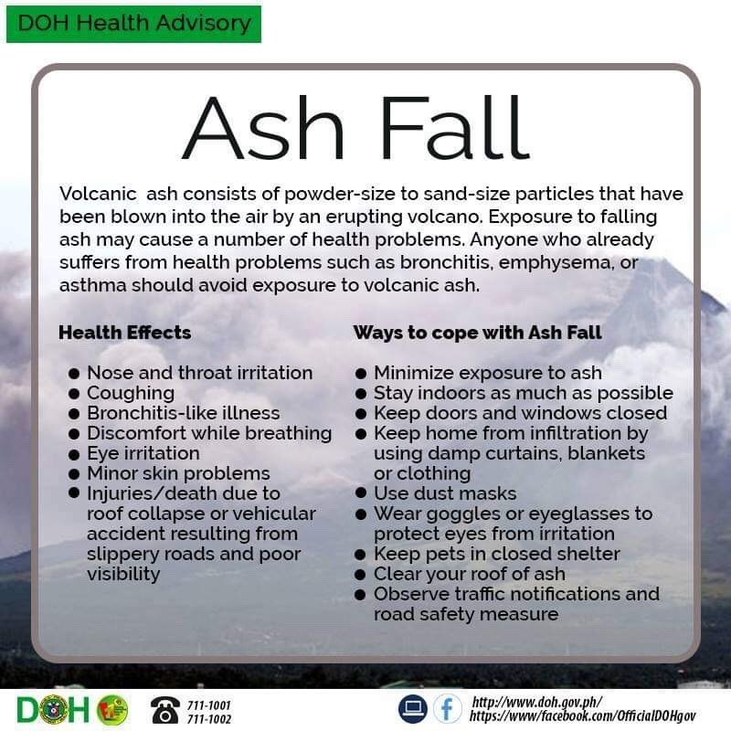 department of health ash fall