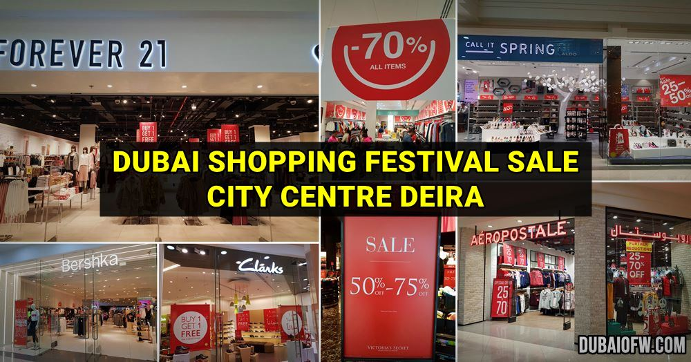 dubai shopping festival sale in Deira city centre mall