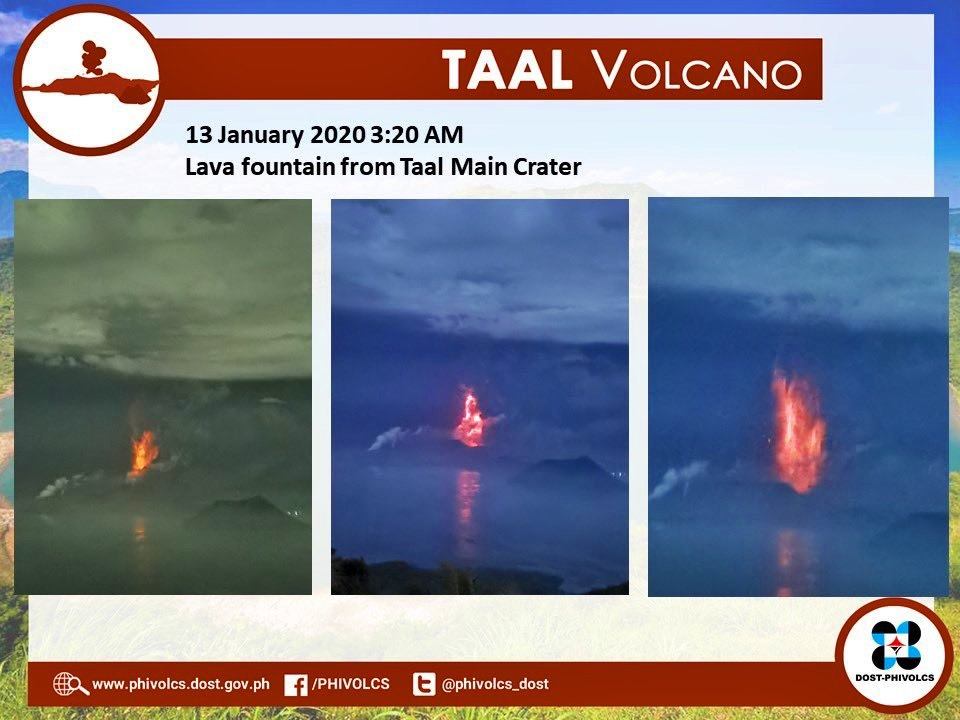 lava fountain taal volcano
