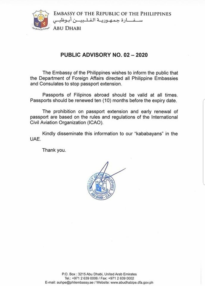 public advisory ph passport extension
