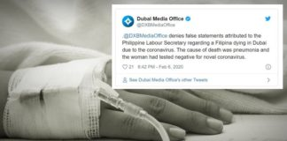 filipina maid dubai death respiratory