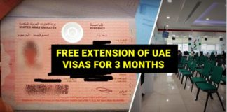 free extension of uae visa 3 months