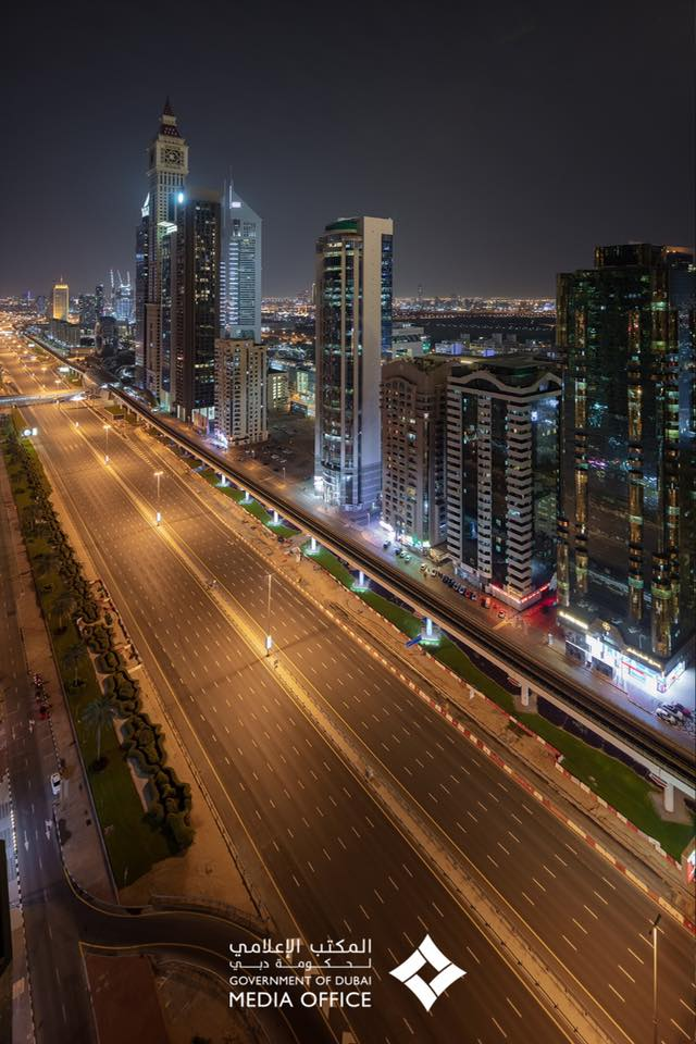 picture sheikh zayed road no car