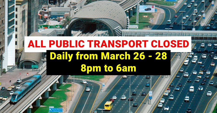 public transport closed national disinfection update