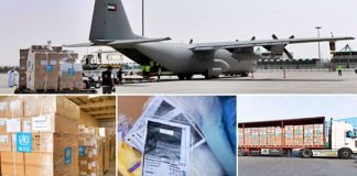 uae deliver medical supplies from world health org to iran