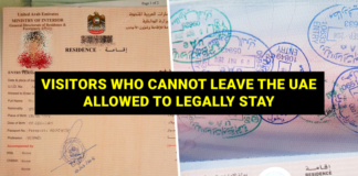 visitors allowed to legally stay in uae