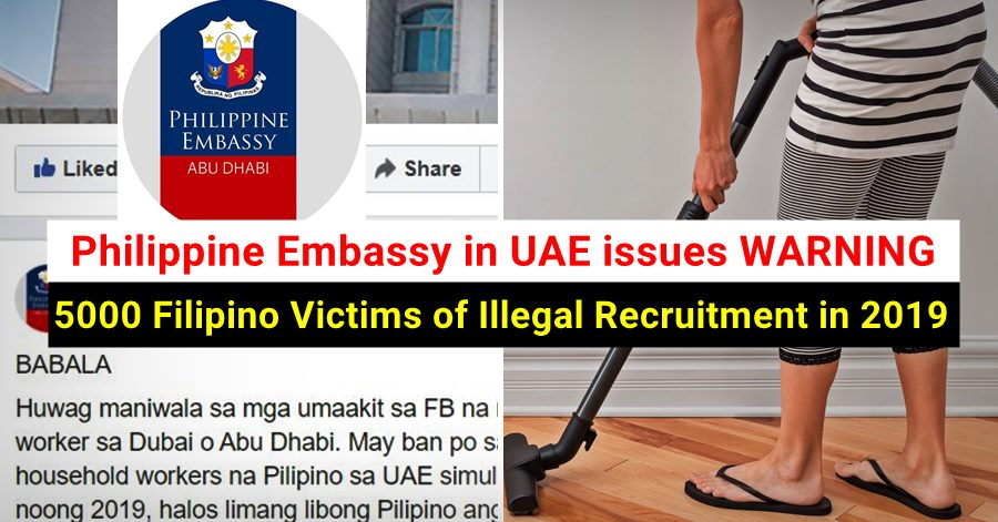warning filipinos illegal recruitment uae
